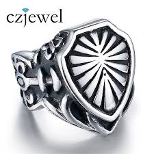cool jewelry rings images Cool stainless steel armor shield ring knight templar crusade jpg