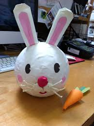 paper mache rabbit paper mache rabbit