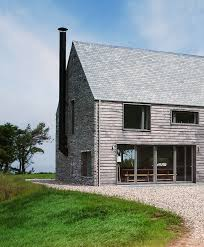 Modern Farm Homes Mortehoe House Oak Clad With A Stone Gable Www Mcleanquinlan Com