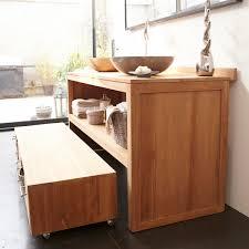 meubles en teck massif ordinaire meuble colonne salon 10 meuble salle de bain en teck