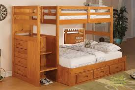 Bunk Bed Full Over Full Sanblasferry - Stairway bunk bed twin over full