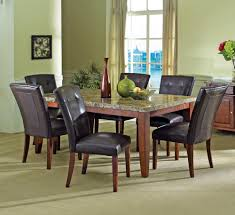 homelegance keegan 7 piece 62x42 dining room set in brown
