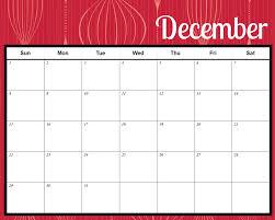 christmas holiday calendar template blank calendar design 2017