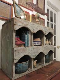 ebay primitive antique cubby or nesting box traces of old blue