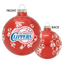 los angeles clippers candy cane ball ornament