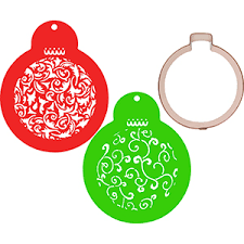 ornament cookie cutter and stencil set