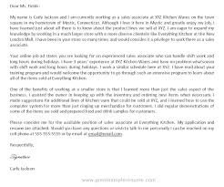cover letter for sales associate inside sales associate cover