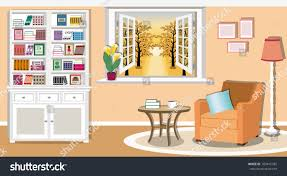modern colorful living room interior design stock vector 703415785