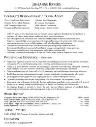 Insurance Agent Resume Examples by Job Description Examples For Travel Agent Travel Agent Resume