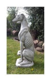 size greyhound garden statue pair onefold uk