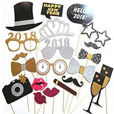 new year supplies new years photo booth props 2018 20 pcs new