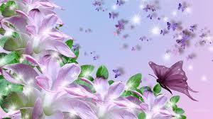 flower lavender butterfly lilies scatter butterflies
