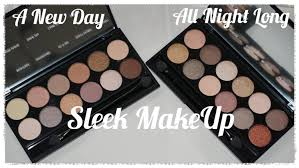 review new sleek makeup a new day u0026 all night long eyeshadow