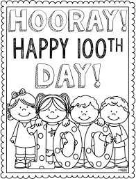100th day of coloring pages line drawings 1185