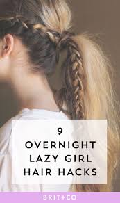 quick and easy hairstyles for running 9 overnight hair hacks for your lazy easter sunday overnight hair