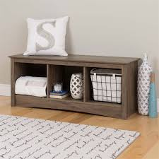 Storage Bench With Cubbies 3 Cubby Storage Bench In Drifted Gray Dsc 4820