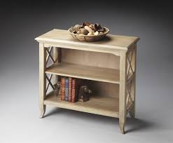 interior stunning solid oak three tier low bookcase for