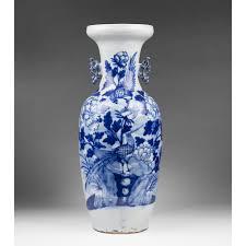 Celadon Vase Qing Dynasty 19th C Celadon Ground Blue Underglaze Chinese Vase