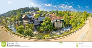 idyllic village of rastoke on korana river stock photo image