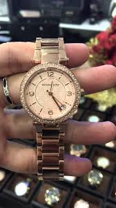 rose tone stainless steel bracelet images Michael kors women 39 s mini parker rose gold tone stainless steel jpg