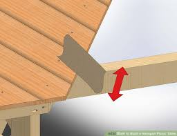 How To Build A Round Wooden Picnic Table by How To Build A Hexagon Picnic Table With Pictures Wikihow
