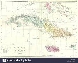 Bahama Islands Map Cuba Cuba Jamaica Bahamas Cayman Islands Bacon 1895 Antique Map