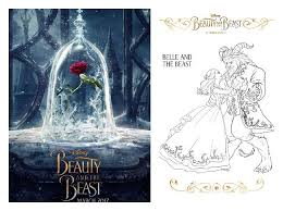 beauty beast coloring sheets beourguest beautyandthebeast