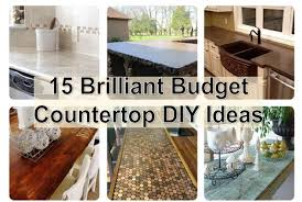 inexpensive kitchen countertop ideas exquisite 15 brilliant budget countertop diy ideas find