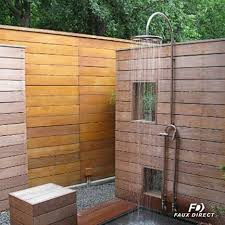 outdoor wood wall make an outdoor wood shower without wood faux direct