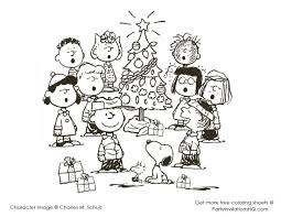 Peanuts Halloween Coloring Pages by Charlie Brown Christmas Tree Coloring Page With Snoopy Coloring