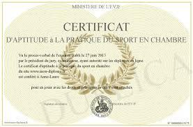 certificat d aptitude a la pratique du sport en chambre