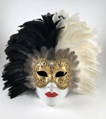 carnevale masks feathered volto carnevale mask black white visions of venice