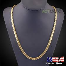 new arrival fashion style gold plated alloy snake shape 1 pcs 24inch yellow gold plated snake chain necklace hip hop rap