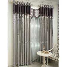 Silver Window Curtains Shabby Chic Room Darkening Silver Print Bedroom Window Curtain