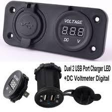 porta usb per auto duel caricabatterie porta usb 2 led con voltmetro digitale dc per