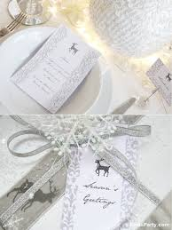 christmas party ideas white winter wonderland dinner party
