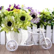 flower basket tricycle bike design flower basket seeds
