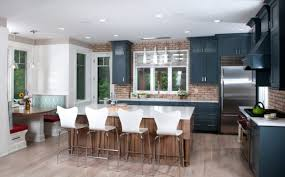 stunning kitchens with brick backsplash for pleasant atmosphere