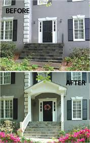 20 home exterior makeover before and after ideas home images of front porches on split level homes new photographs 20