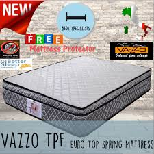 qoo10 beds specialist vazzo tpf 10 inch euro top spring