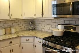 Kitchen Countertops Without Backsplash How To Install A Tile Backsplash Without Thinset Or Mastic Home