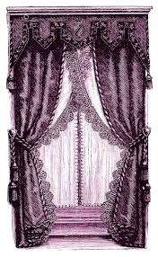 Curtains Plum Color by Cliparts Window Treatment Cliparts Zone