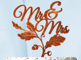 fall wedding cake toppers mr mrs cake topper wedding cake topper wedding decor fall
