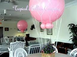 hot air balloon centerpiece balloon event decorating most southeastern florida
