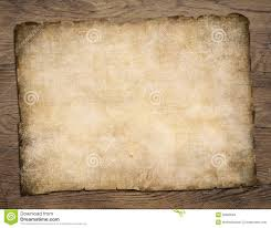 Real Treasure Maps Old Blank Parchment Treasure Map On Wooden Table Stock Photo