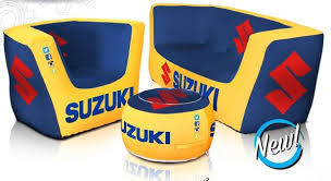 Inflatable Chair And Ottoman by Custom Printed Inflatable Furniture Company Logo Or Product