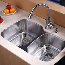 kitchen sink and faucet combo kraus kbu24kpf2220ksd30orb 32 inch undermount bowl