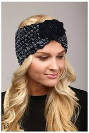 knit headband crown winter warm button cable knit headband various colors 004