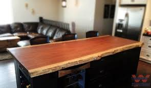 kitchen island counter parota live edge kitchen island counter craftsman