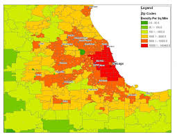 Zip Code Map Of Chicago by Map Showing Zip Code Areas And Major Streets Of The Chicago Street